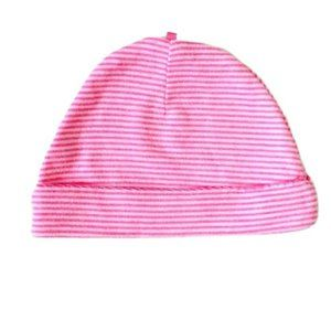 Neon Pink Striped Infant Cap